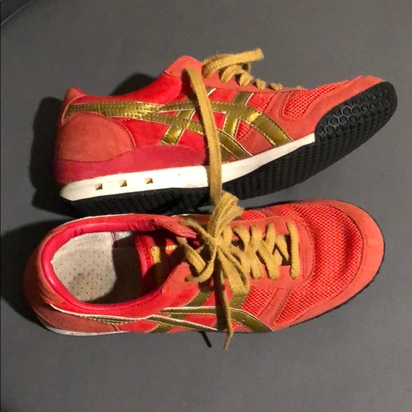 the best attitude 1b1d2 1f1e2 Onitsuka Tiger red and gold men's 7 women's 8.5